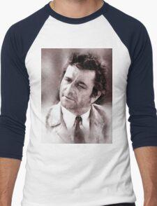 Peter Falk Columbo by John Springfield Men's Baseball ¾ T-Shirt