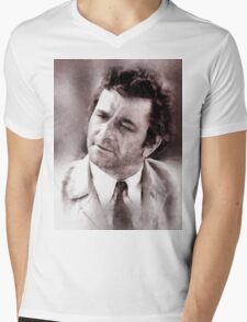 Peter Falk Columbo by John Springfield Mens V-Neck T-Shirt