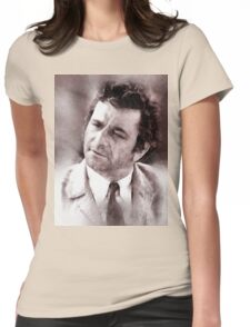 Peter Falk Columbo by John Springfield Womens Fitted T-Shirt