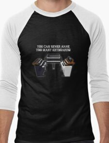 Too Many Keyboards! Men's Baseball ¾ T-Shirt