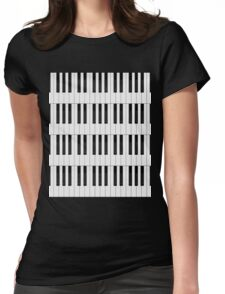 Piano / Keyboard Keys Womens Fitted T-Shirt