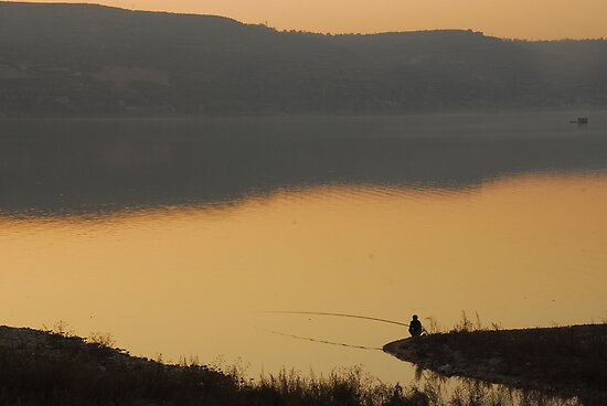 fishing alone by davvi