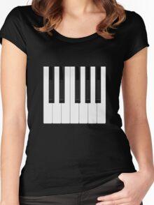 Piano / Keyboard Keys Women's Fitted Scoop T-Shirt