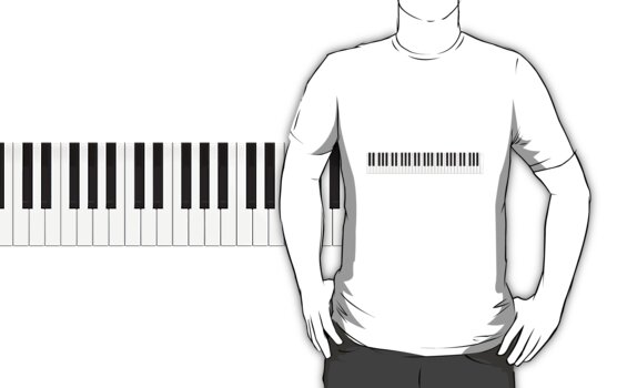 Piano / Keyboard Keys by bradyarnold
