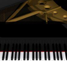 Grand Piano: Black Finish Sticker
