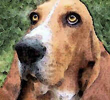 Basset Hound - Irresistible  by Sharon Cummings