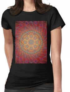 Psychedelic Spiral Design Womens Fitted T-Shirt