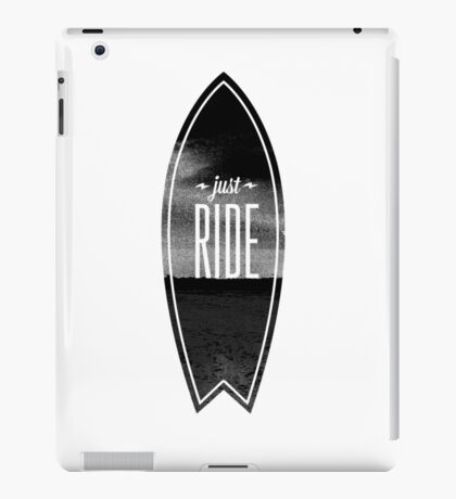 Just Ride - Surfer Style Motive iPad Case/Skin