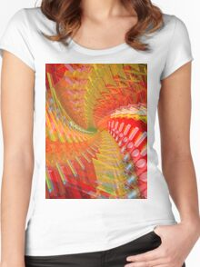 Abstract / Psychedelic Spiral Design Women's Fitted Scoop T-Shirt