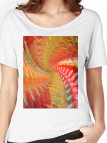 Abstract / Psychedelic Spiral Design Women's Relaxed Fit T-Shirt