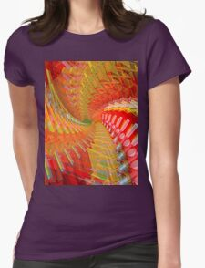 Abstract / Psychedelic Spiral Design Womens Fitted T-Shirt