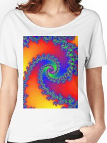 Psychedelic Fractal Spiral Vortex Women's Relaxed Fit T-Shirt