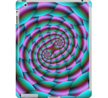 Snake Skin Spiral in Turquoise and Pink iPad Case/Skin