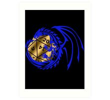 Dungeons and Dragons - Blue and Gold! Art Print