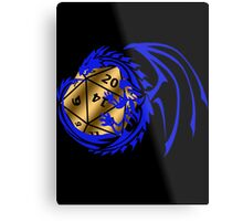 Dungeons and Dragons - Blue and Gold! Metal Print