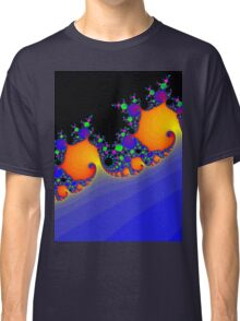 Psychedelic Fractal Spiral Vortex Classic T-Shirt