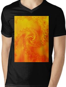 Fire Fractal Spiral Mens V-Neck T-Shirt