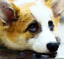 Corgi Art - That Look by Sharon Cummings