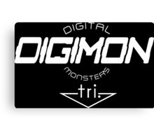 Digimon DigiMon White Canvas Print