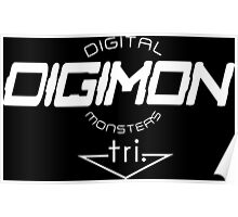 Digimon DigiMon White Poster