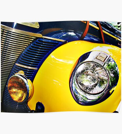 Blue and Yellow Speedster Poster
