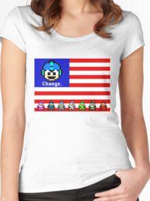 Mega Man: Change Women's Fitted Scoop T-Shirt