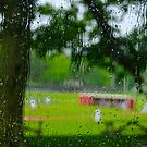 Rain through car window by Daniel Sorine