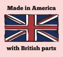 Made In America With British Parts Baby Tee