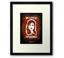 Clara Oswin Oswald (Alternate version) Framed Print