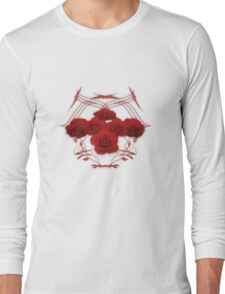 Roses and Tribal Graphics Long Sleeve T-Shirt
