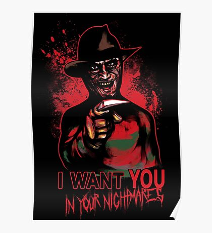 I want You in your nightmares Poster