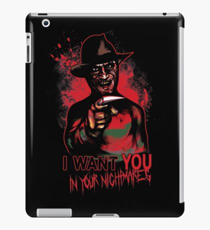 I want You in your nightmares iPad Case/Skin