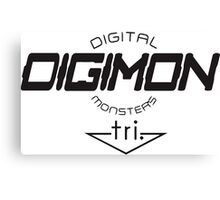 Digimon DigiMon Black Canvas Print