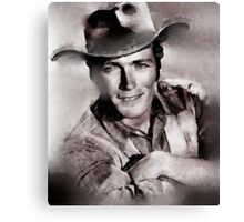 Clint Eastwood Hollywood Icon by John Springfield Canvas Print