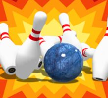 Bowling Pins Explosion Sticker