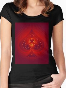 Card Suits: Spades Symbol Women's Fitted Scoop T-Shirt