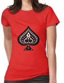 Card Suits: Spades Symbol Womens Fitted T-Shirt