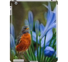 Robin in flowers iPad Case/Skin