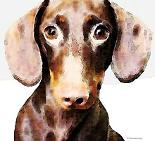 Dachshund Art - Roxie Doxie by Sharon Cummings