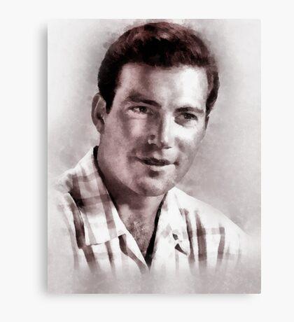 William Shatner by John Springfield Canvas Print