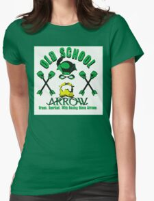 Old School Arrow Womens Fitted T-Shirt