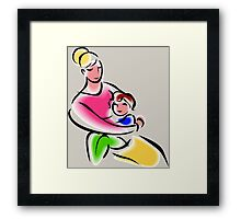 Mothers Are Superheroes Framed Print