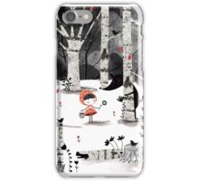 Who's Afraid of the Big Bad Wolf?! iPhone Case/Skin