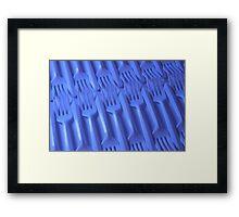 Plastic fork blues- ISO 6400 Framed Print