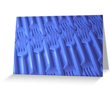 Plastic fork blues- ISO 6400 Greeting Card