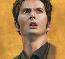 Time Lord David Tennant iPad case by Cynthia Blair
