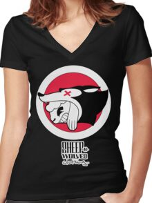 Sheep-n-Wolves Clothing Logo Women's Fitted V-Neck T-Shirt