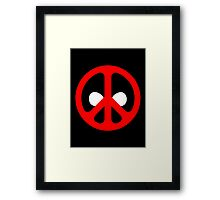 Deadpeace Framed Print