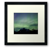 Aurora Borealis, Mt Robson, BC Framed Print