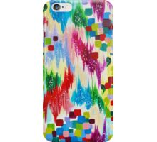 'TIS THE SEASON - Cheerful Christmas Seasonal Holidays Abstract Acrylic Painting Chevron Snow  iPhone Case/Skin